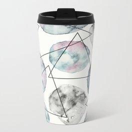 Orbiting Asteroid Pattern Metal Travel Mug