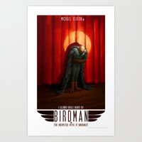 birdman Art Prints featuring Birdman by James Bousema