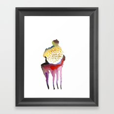 Why horses don't sweat, but I do? Framed Art Print