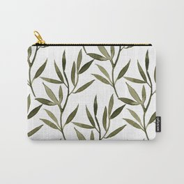 Khaki Leaves Carry-All Pouch