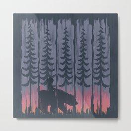 Friends In The Woods Metal Print