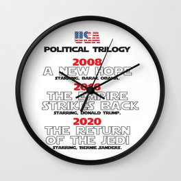 USA Presidential trilogy Wall Clock