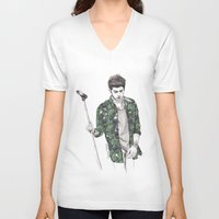 zayn V-neck T-shirts featuring Zayn Floral by Coconut Wishes