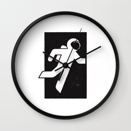 Space exit Wall Clock