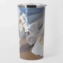 Joaquín Sorolla y Bastida - Strolling along the Seashore Travel Mug