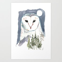 She Watches Over the Night Art Print