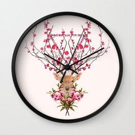 Spring Deer Wall Clock