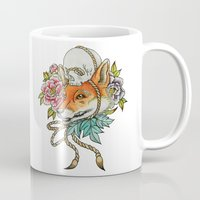 kitsune Mugs featuring Kitsune by Total-Cult