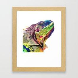 Awesome Iguana Art Shirt - Gift For Iguana Reptile Lizard Fans Framed Art Print