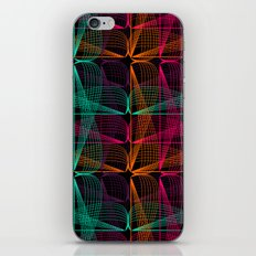 Neon threads iPhone Skin