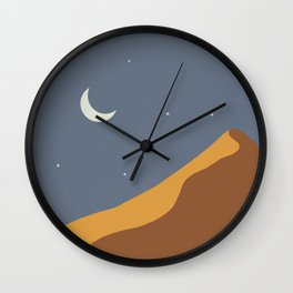 Moon over the Sand Dune Wall Clock