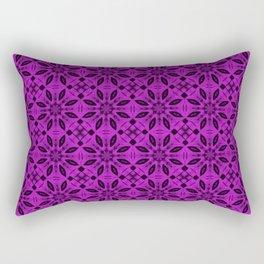 Dazzling Violet Floral Pattern Rectangular Pillow
