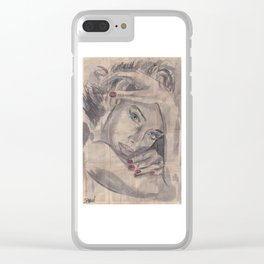 """Ink Painting """"Nelle"""" Clear iPhone Case"""