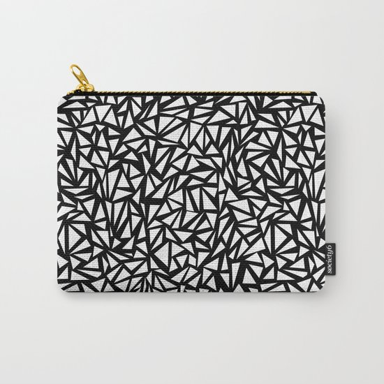 Try Me - memphis modern black and white minimal angular geometric triangle fun 1980s retro  Carry-All Pouch