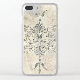 Fleurons II Clear iPhone Case