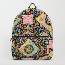 Boho Chic Patchwork Backpack
