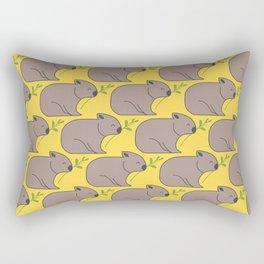 Wombat Parade II Rectangular Pillow