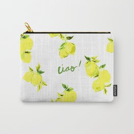 Ciao Lemon Print Carry-All Pouch