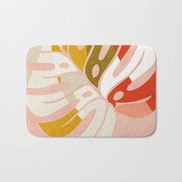 shapes leave minimal abstract art Bath Mat