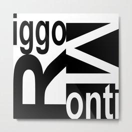 Riggo Monti  Design #8 - Riggo Monti Deco Tile Design Metal Print