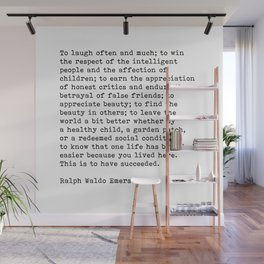 To Laugh Often And Much, Success, Ralph Waldo Emerson Quote. Wall Mural