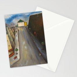 Rue de la Santé, Montparnasse, Paris cityscape 1925 by Yves Tanguy Stationery Cards