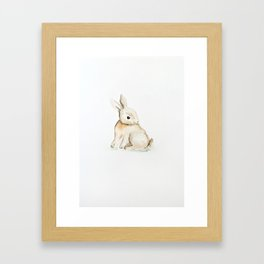 Easter bunny watercolor Framed Art Print