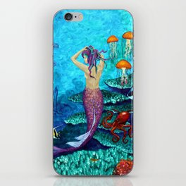 A Fish of a Different Color - Mermaid and seaturtle iPhone Skin