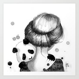 In your arms... Art Print