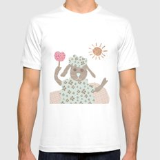 sheep collage White MEDIUM Mens Fitted Tee