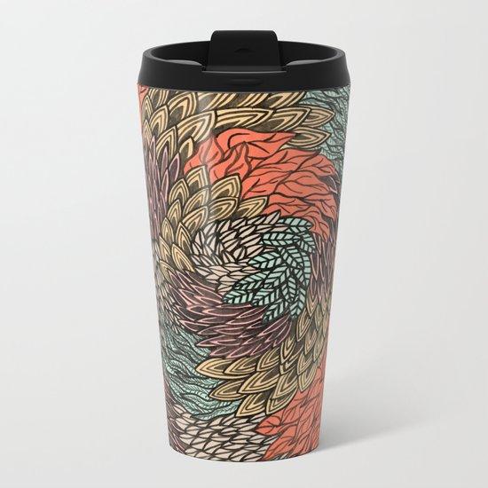 Ink Pattern no.2 Metal Travel Mug