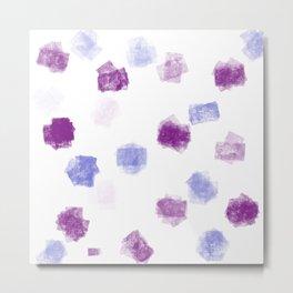 Purple confetti Metal Print
