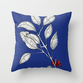lomboy blue Throw Pillow