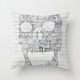 Shantytown Walls Throw Pillow
