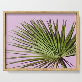 Palm on Lavender Serving Tray