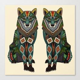 wolf ivory Canvas Print
