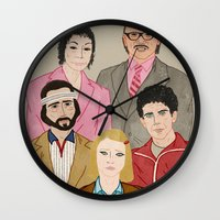 royal tenenbaums Wall Clocks featuring Royal Tenenbaums by Adam Vass