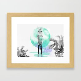Planet.X2Y23-Rabbit Hole Framed Art Print
