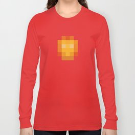 hero pixel red yellow Long Sleeve T-shirt