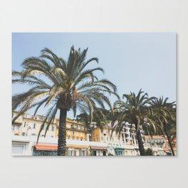 Cote d'Azur Palms Canvas Print