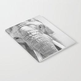 Elephant Photography   Wildlife Art   African   Nature   Animal Photography   Black and White Notebook