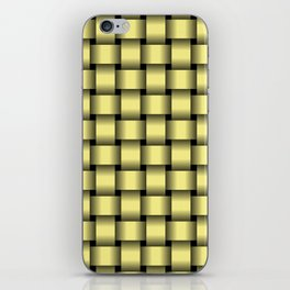 Khaki Yellow Weave iPhone Skin