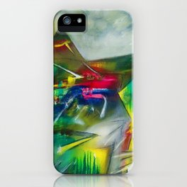 Sunset Landscape with Mountains by R. Matta iPhone Case