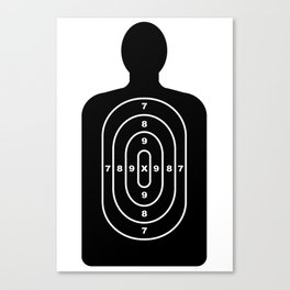 Human Shape Target Canvas Print