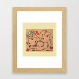 Daleys - White Background Framed Art Print