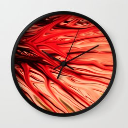 Strawberry Firethorn by Chris Sparks Wall Clock