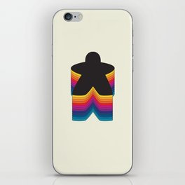 Meeple Color Stack iPhone Skin