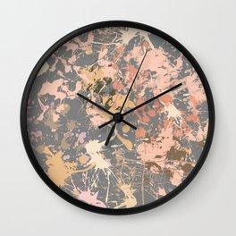 Skin Tones - Liquid Makeup Foundation - on Gray Wall Clock