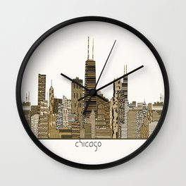 chicago vintage Wall Clock