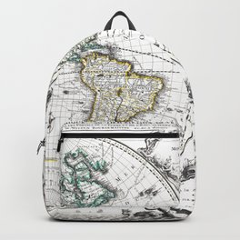 World map wall art 1632 dorm decor mappemonde Backpack